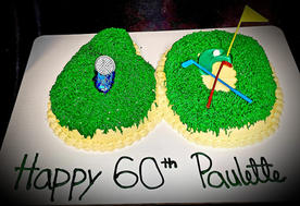 60th golf themed cake