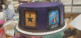 """Greatest Showman"" cake"