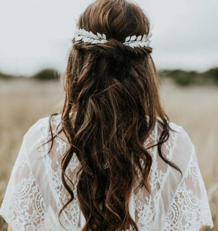 Bridal hair accessories for the modern bride by Eden B Studio.