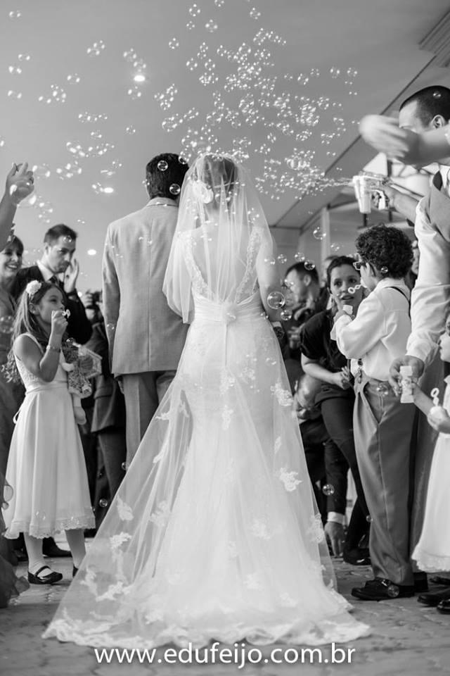 Vestido de noiva sereia decote