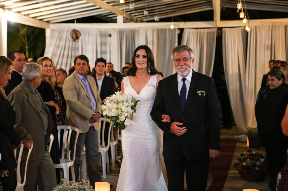 Vestido de noiva renda off-white