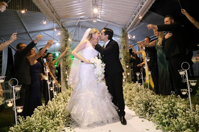 Vestido de noiva organza