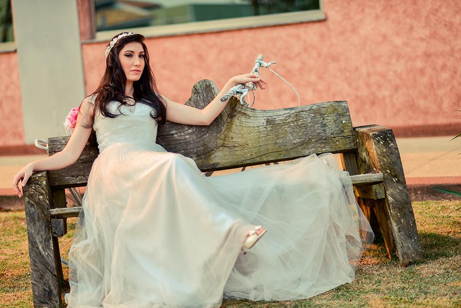Vestido de noiva para campo