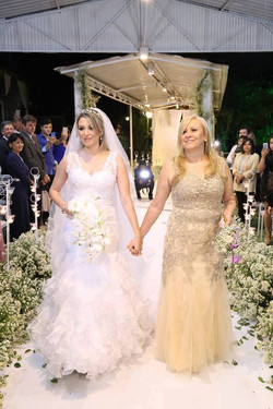 Vestido de noiva sereia camadas