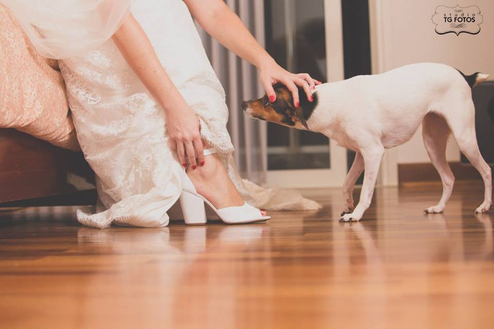 Vestido de noiva renda chantilly
