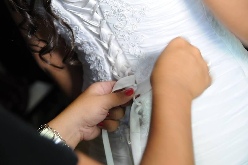 Vestido de noiva drapeado