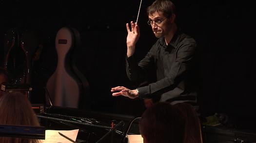 Matthew Kofi Waldren conducting the City of London Sinfonia