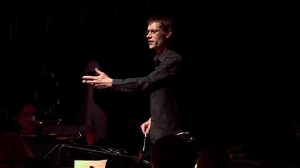 Matthew Kofi Waldren rehearsing the City of London Sinfonia