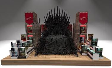 """Réplica do trono de """"Game of Thrones"""" em SP"""