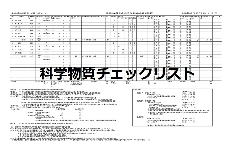 D確認申請ー科学物質チェックリスト - c