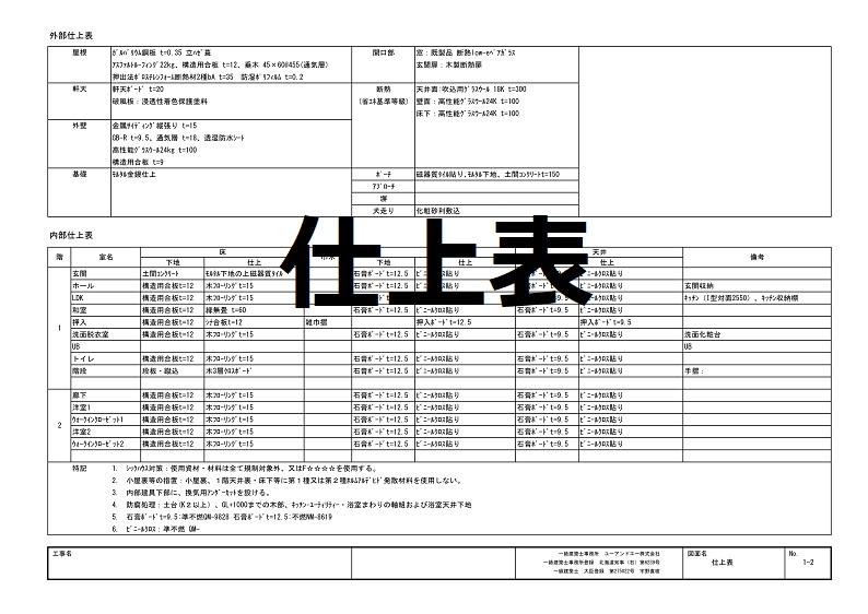 2確認申請―仕上表 - c