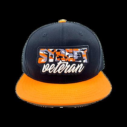 Street Veteran Orange Camo Snapback
