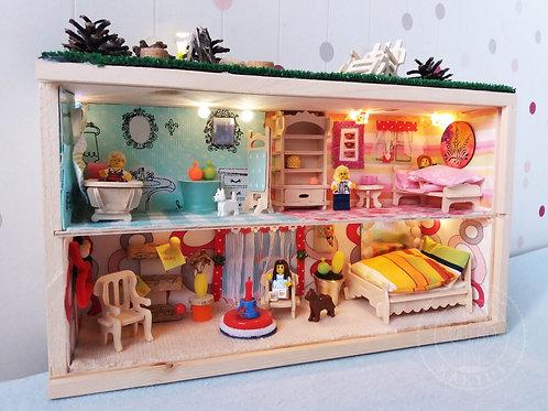 MIeszkanie dla ludzików LEGO - dwupoziomowe