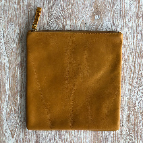 Leather Clutch - Mustard