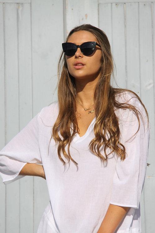Charlotte Dress Long - White