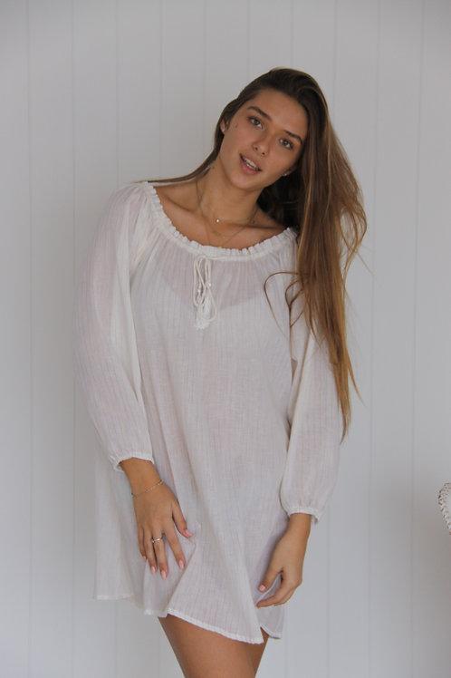 Tayla Dress - Short Gold Stripe