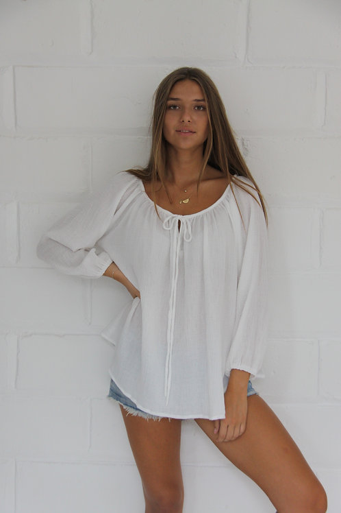 Lily Blouse - White