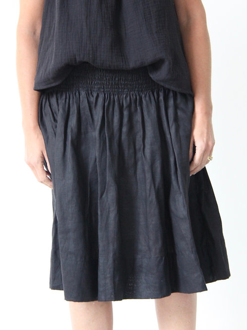 Carolyn Linen Skirt - Black