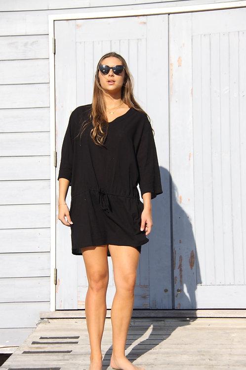 Charlotte Dress Short - Black
