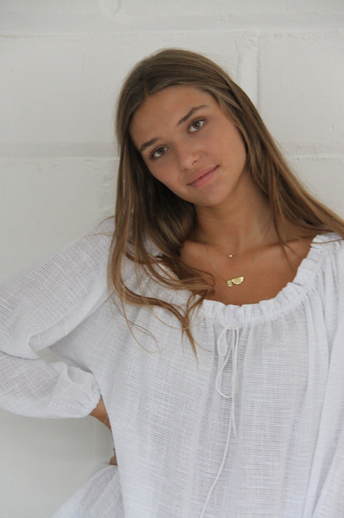 Tayla Blouse - raw cotton