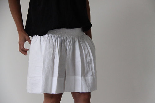 Carolyn Linen Skirt - White