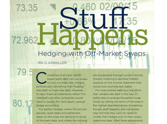 Hedging with Off-Market Swaps