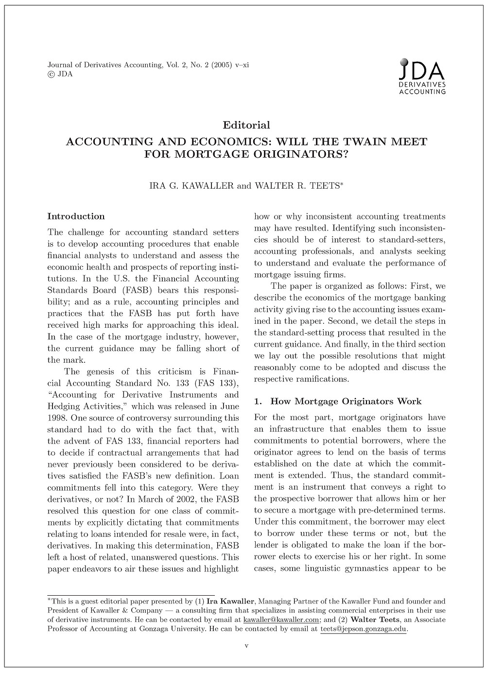 Journal of Derivatives Accounting