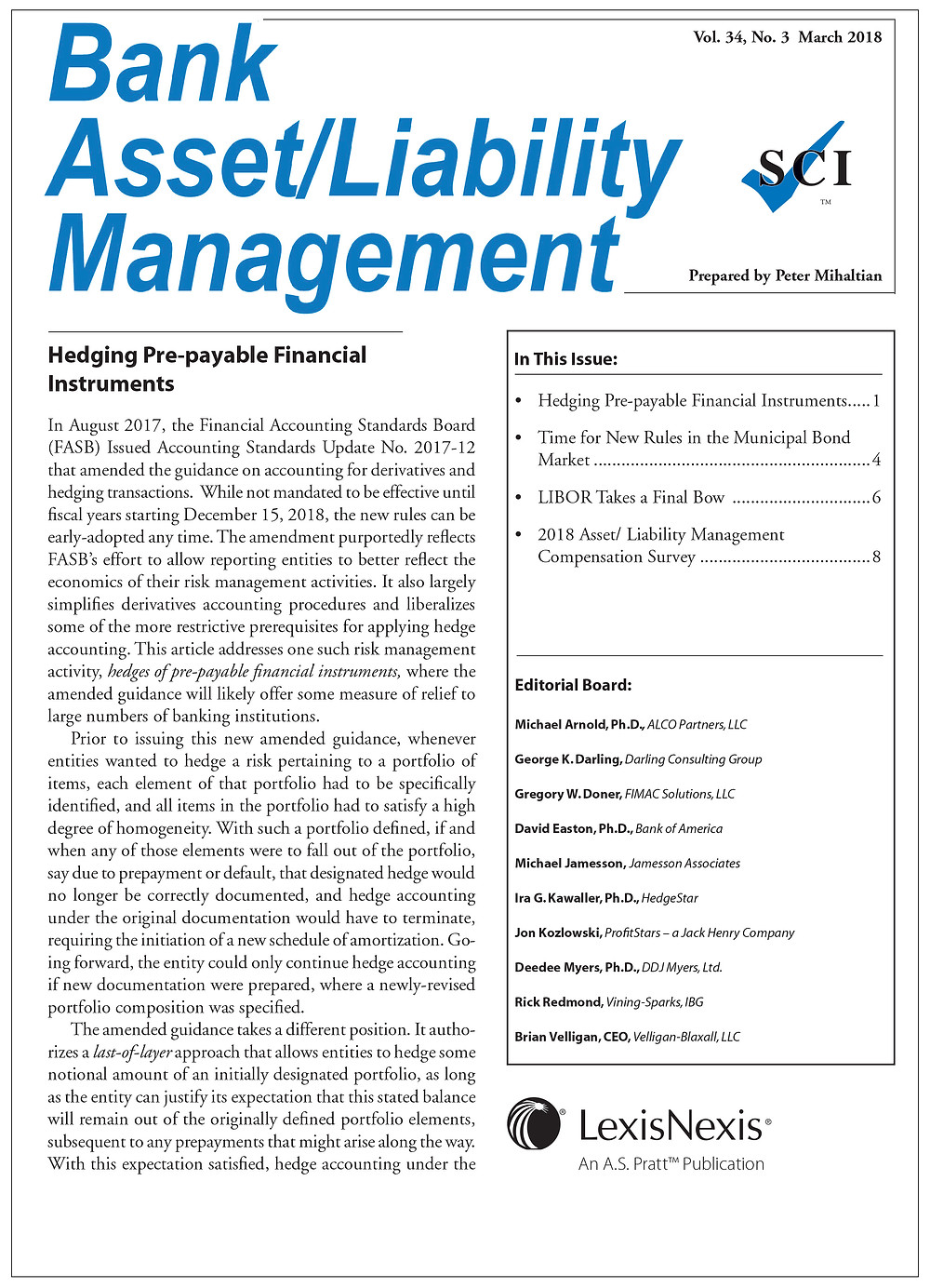Hedging Pre-Payable Financial Instruments Article