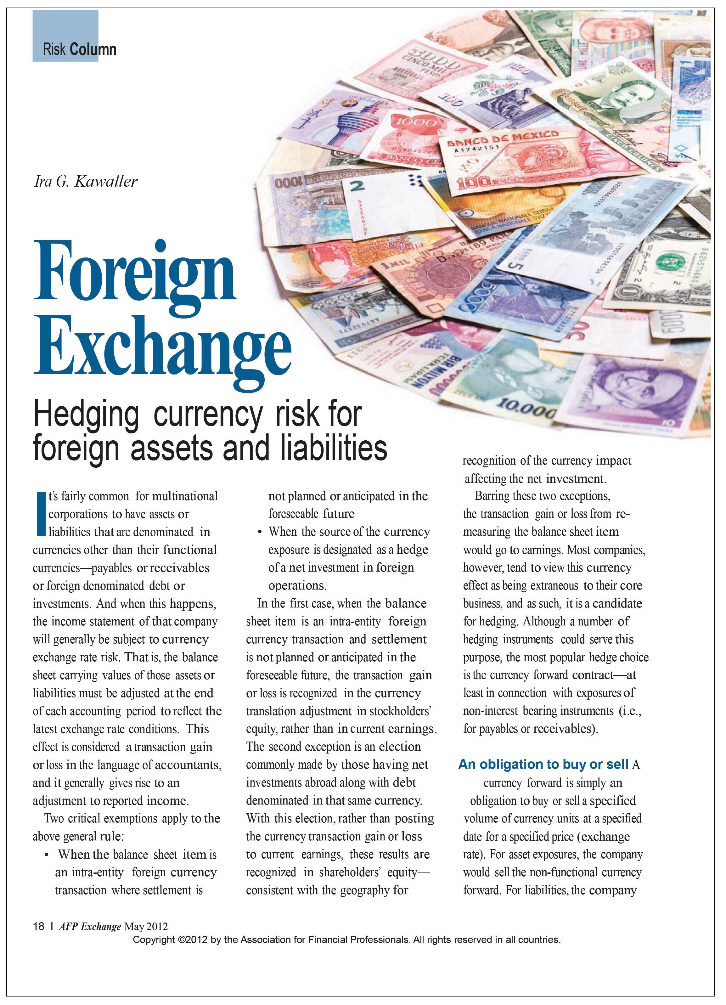 foreign exchange exposure pdf