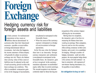 Hedging Currency Risk for Foreign Assets and Liabilities