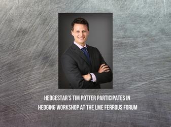 HedgeStar's Tim Potter participates in hedging workshop at the LME Ferrous Forum