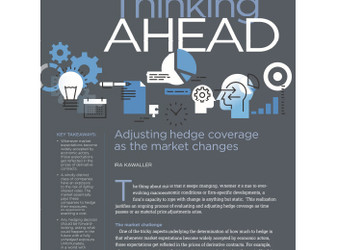 Thinking Ahead: Adjusting Hedge Coverage as the Market Changes