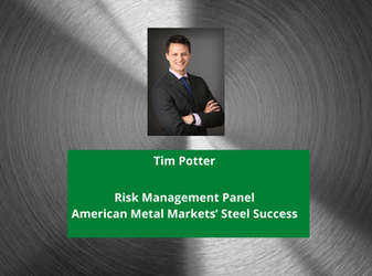 HedgeStar's Tim Potter sits on Risk Management panel at the American Metal Markets' Steel Success