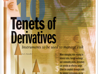 10 Tenets of Derivatives - Instruments to be Used to Manage Risk
