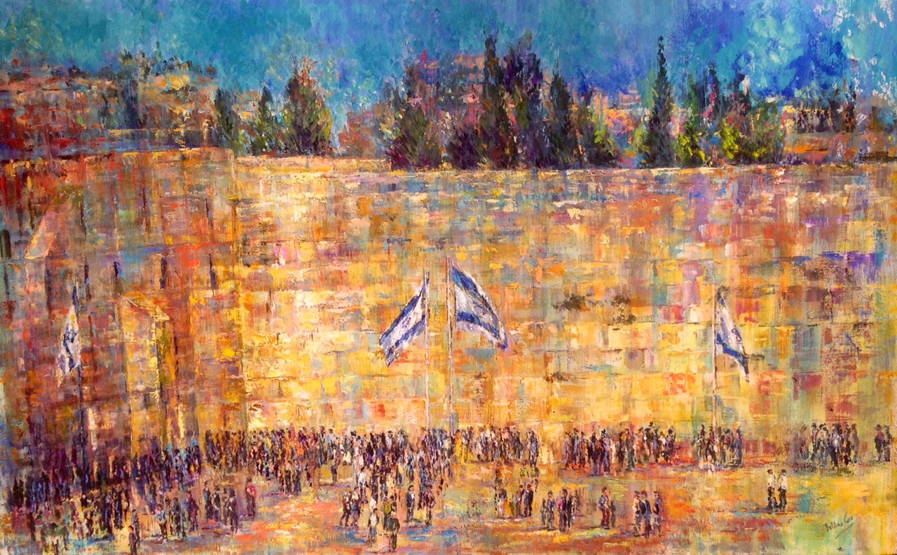 Dusk at the Western Wall