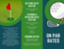 Blue Green Photo Illustrated Golf Tourna