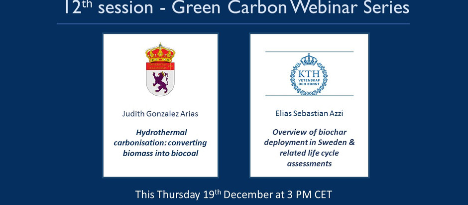 Last Green Carbon Webinar this year!