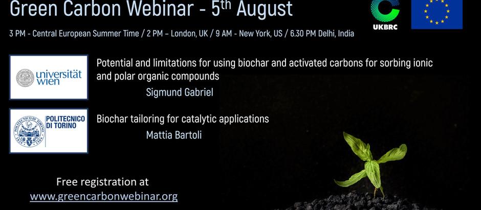 5th August - Next webinar