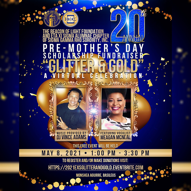 GLITTER AND GOLD: Pre-Mothers' Day Scholarship Fundraiser