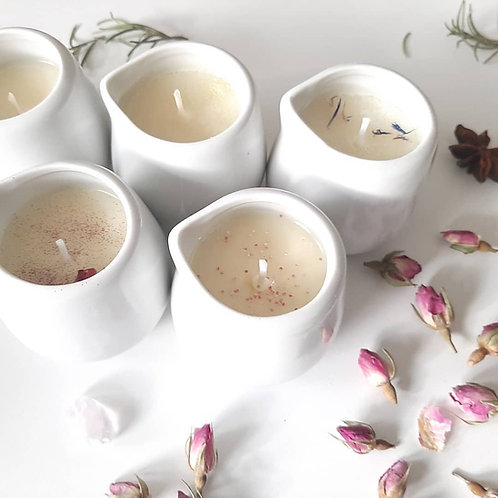 Massage Oils Candles in a Jug: Rose Balm, Zen, Pampering, Sensual and Unscented