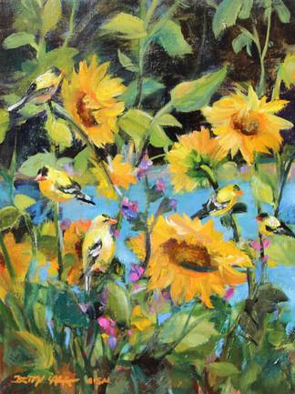 Sunflower & Finch Garden