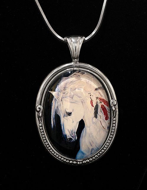 Spirit of the Horse - Pendant by Sandra Byland Jewelry