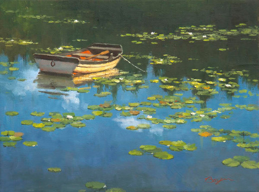 Boat in the Lilies