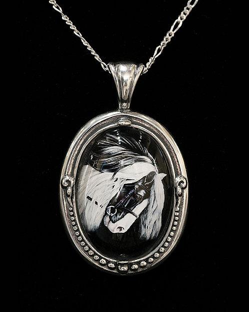 Gypsy Vanner - Pendant by Sandra Byland Jewelry