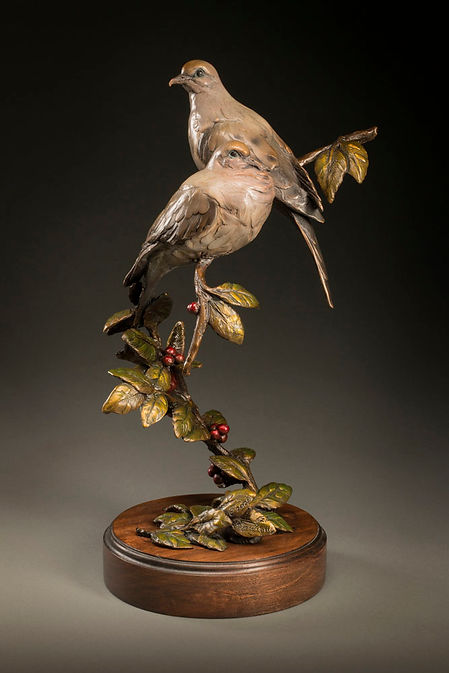 Mourning Doves by Raymond Gibby bronze e