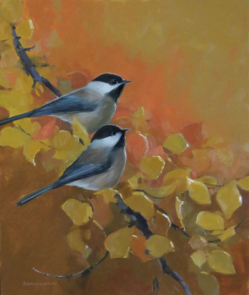 September Blush (chickadees)