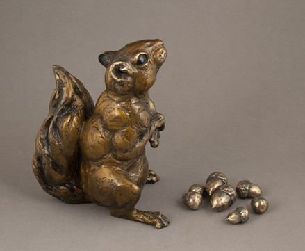 Just One More (squirrel with acorns)