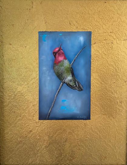 Hummingbird on Gold
