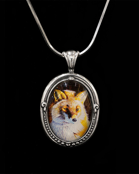 Red Fox at Dawn Pendant
