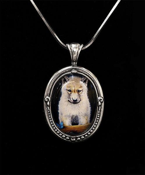Wolf Pup - Pendant by Sandra Byland Jewelry